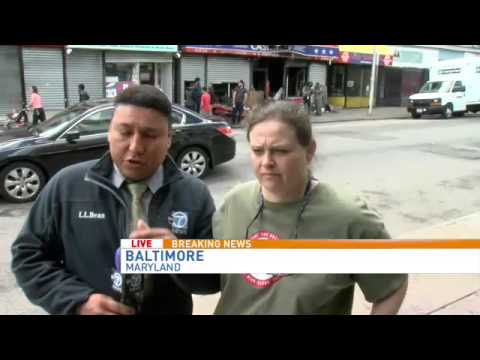 Baltimore citizens react to riots and damage