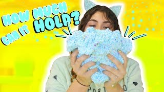 HOW MUCH CAN SLIME HOLD PART 2   Floam, Fishbowl, glitter   Slimeatory #161
