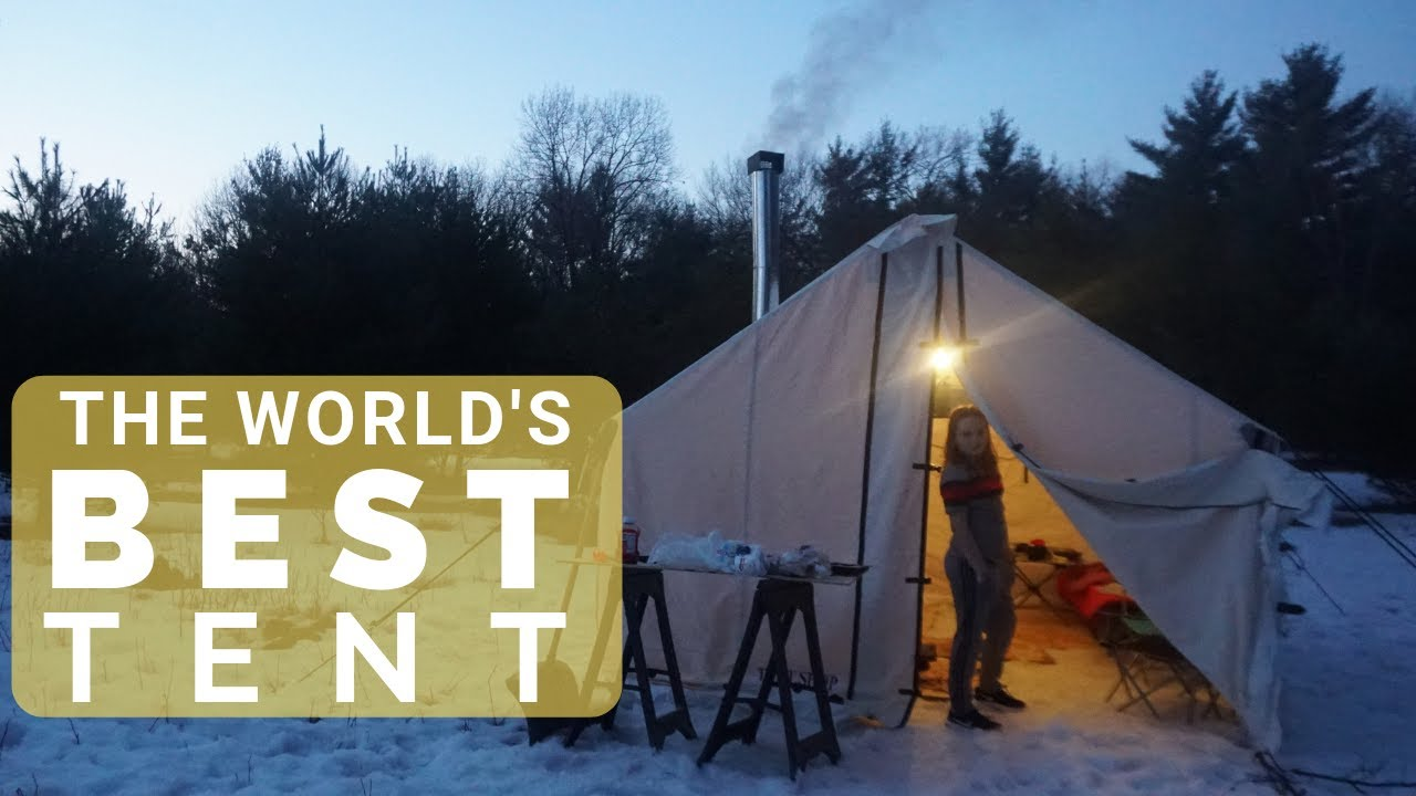 Download THE BEST TENT IN THE WORLD! (Winter Tent Camping & Setup in Freezing Weather- Wilderness Tent)