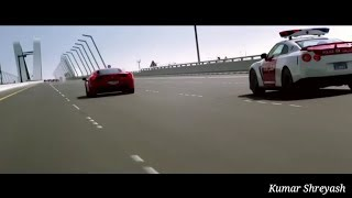 Amazing police chase and flying cars scenes on the song Satisfya