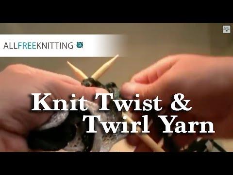 How To Knit Twist Twirl Yarn By Bernat Youtube