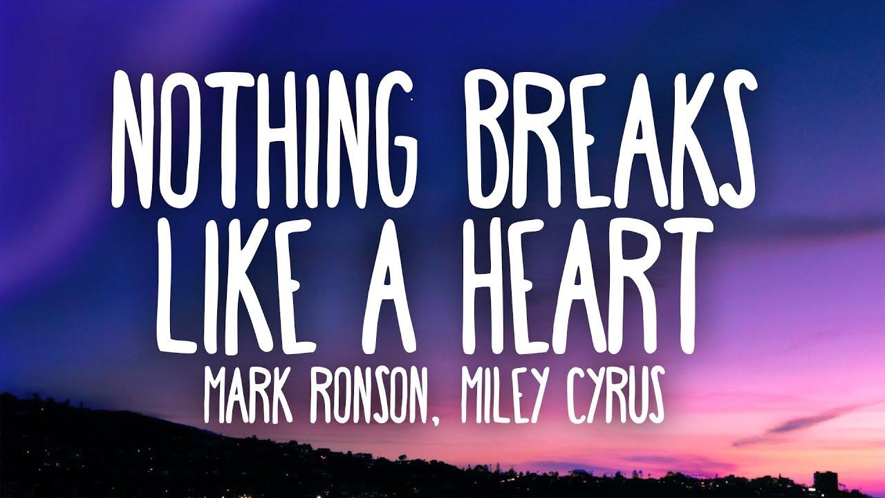 Mark Ronson, Miley Cyrus - Nothing Breaks Like a Heart (Lyrics) image