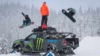 KEN BLOCK'S RAPTORTRAX SHREDFEST WITH ZAK HALE & ETHAN DEISS(Ken Block takes his Ford F-150 RaptorTRAX out to the Baldface Lodge in Nelson, British Columbia to put it to the test as the ultimate backcountry snowboard ..., 2014-10-07T13:00:09.000Z)