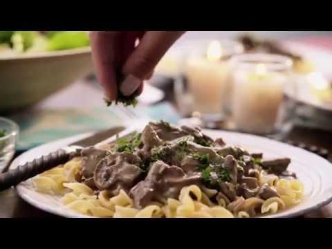 Campbell's Kitchen   Slow Cooker Creamy Beef Stroganoff