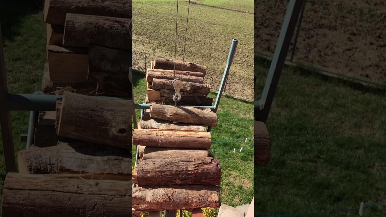 Montacarichi fai da te youtube for Montacarichi da balcone per legna