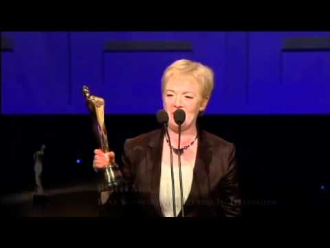 Ruth McCabe, IFTA Winner 2011, Supporting Actress Television for Single Handed. Colm Meany presents