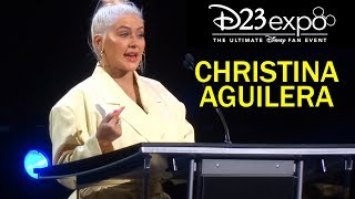 "Christina Aguilera performs ""Reflection"" from ""Mulan,"" accepts Disney Legends award at D23 Expo 2019"