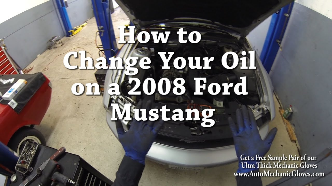 how to change motor oil on a 2008 ford mustang - youtube
