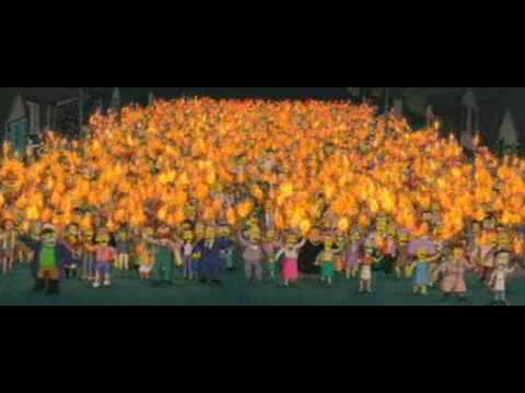 The Simpsons Movie Scene Cut This Trees Out Youtube