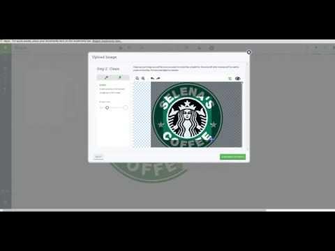Custom Logo Starbucks Inspired Upload In Design Space Youtube