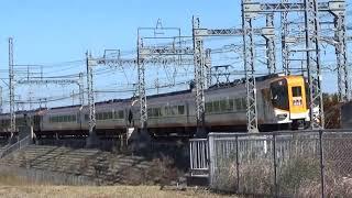近鉄12200系+12600系12602編成特急名古屋行き通過