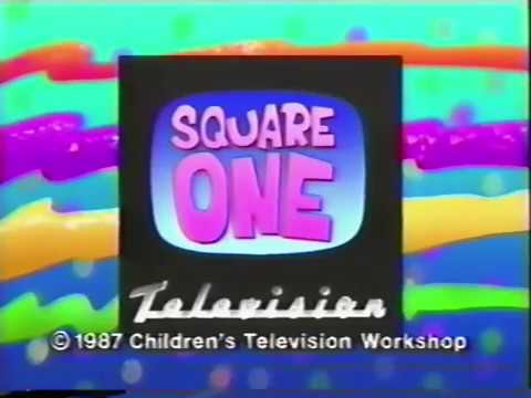 Square One TV funding credits (with CTW logo) / PBS ID (1987