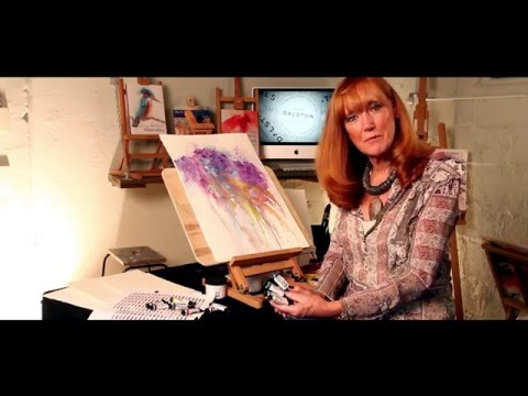 Jean Haines at Jackson's - Daniel Smith Watercolours