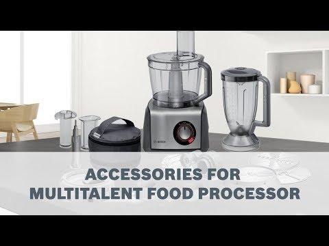 Bosch MultiTalent Food Processor - Accessories User Guide