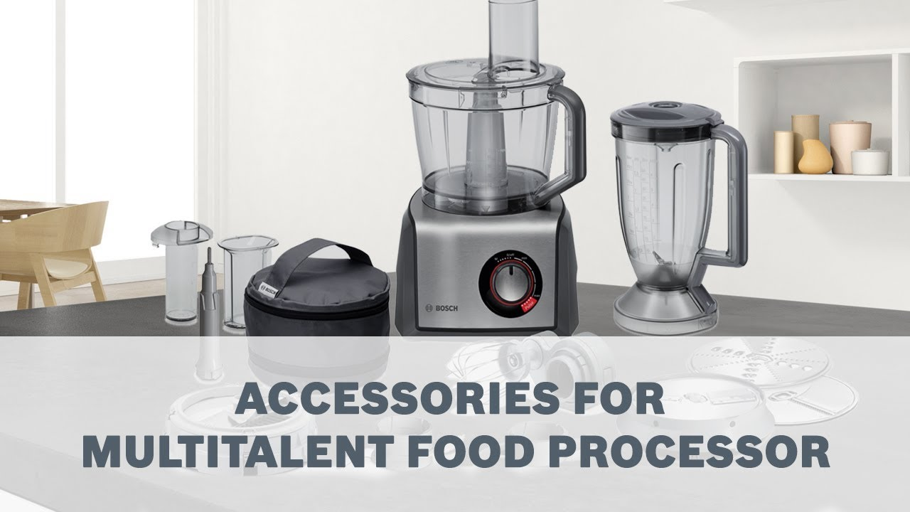 Bosch Multitalent Food Processor Accessories User Guide Youtube