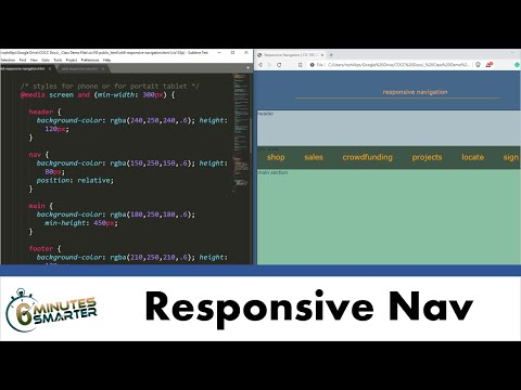 Creating The HTML Structure For A Responsive Navigation Menu