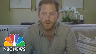 Prince Harry Suggests Covid May Be Nature's Rebuke | NBC News NOW