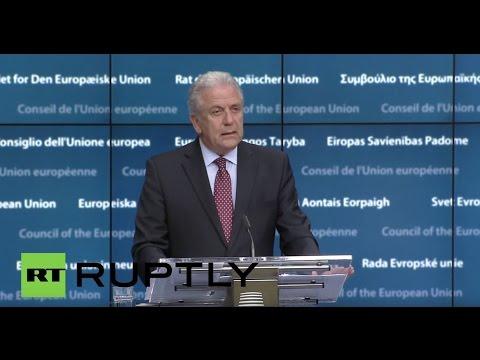 LIVE: EC's Dimitris Avramopoulos holds press conference on latest migration developments