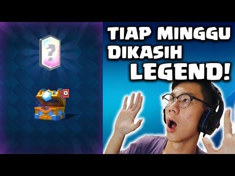 SETIAP KALI BUKA CLAN CHEST DAPET LEGEND MULU NIH!!! - Clash Royale Indonesia