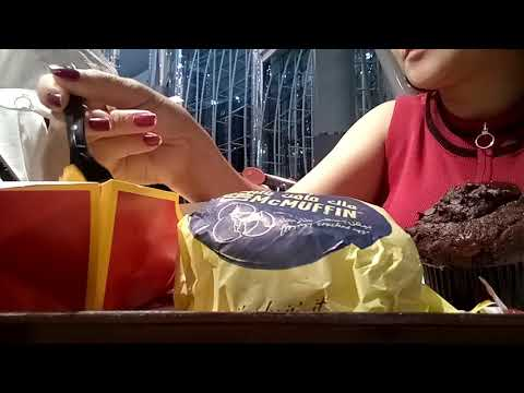 MUKBANG//vlog37//MC DONALD+FRIES WITH CHEESE+MUFFINS+BURGER+MC CAFE