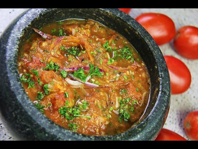 Oven Roasted Tomato Choka #MeatFreeMonday   CaribbeanPot.com