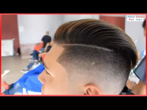 Pompadour Haircut Mens Hair Tutorial Hairstyle Skin Fade