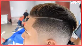 Repeat youtube video Pompadour Haircut ★ Mens Hair Tutorial & Hairstyle ★ Skin Fade Pompadour 2017