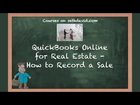 QuickBooks Online for Real Estate   How to Record a Sale