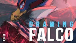 DRAWING FALCO! (tutorial + calling SLIPPY)