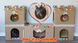 How to make a super cute DIY cat castle from cardboard