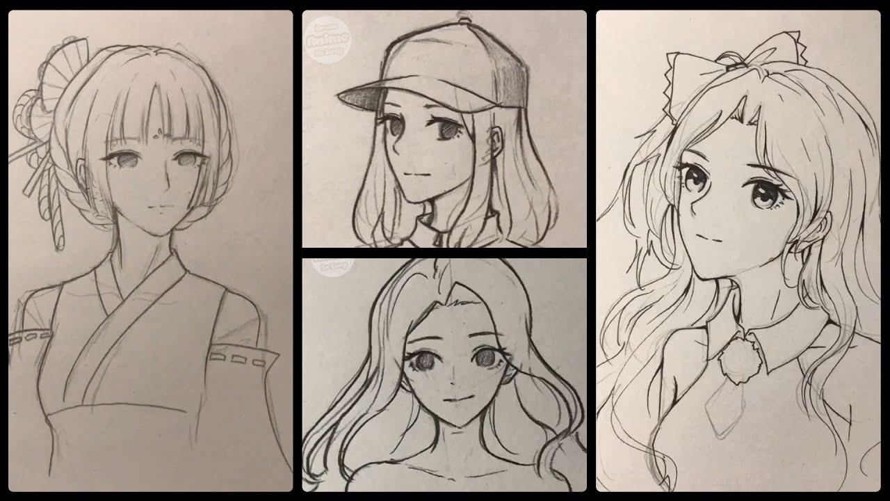 Hướng dẫn vẽ anime đơn giản | Cách vẽ anime bằng chì | Tổng quát những nội dung liên quan đến cách vẽ anime đơn giản bằng bút chì đúng nhất