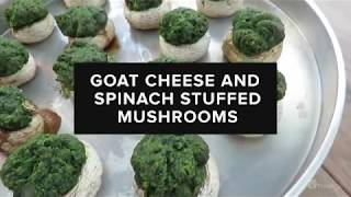 GoodLife Food Life: Goat Cheese Spinach Stuffed Mushrooms