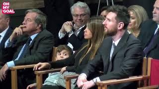 La complicité entre le fils de Messi et Suarez