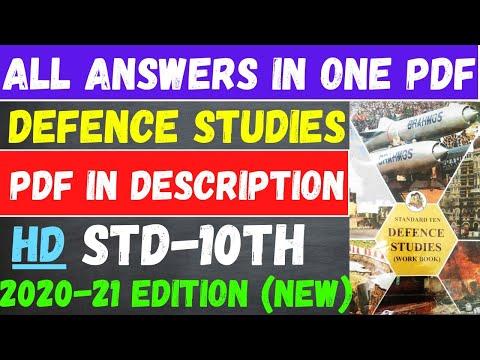 Defence Studies Workbook std 10th All Answers