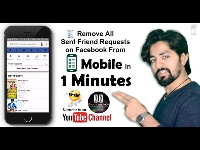 Remove All Sent Friend Requests From MOBILE on Facebook in 1 Minutes