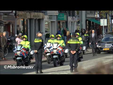 Rouwstoet burgemeester eberhard van der laan  Aankomst & Vertrek  Bij Het Concertgebouw