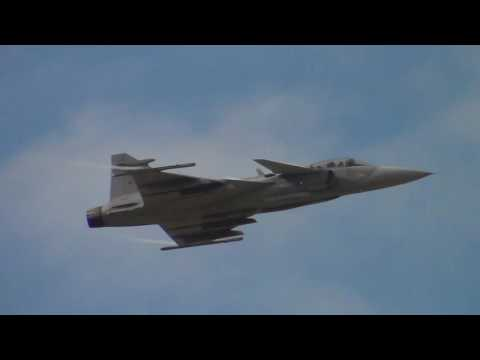 Swedish Air Force Saab Gripen Solo Display RIAT Fairford 10-07-2016