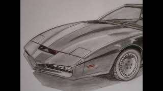 Drawing K.I.T.T. Pontiac Firebird ( Autozeichnung) www.autozeichner.com