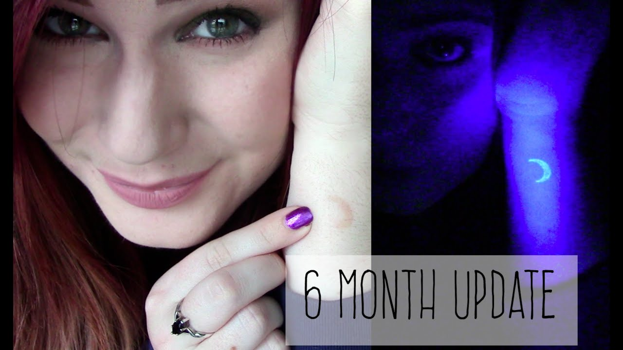 6 Month Uv Black Light Ink Tattoo Update Fading Visibility Youtube