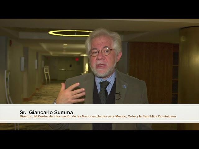 Giancarlo Summa, Director del CINU México, en #NYMUNLAC 2018.