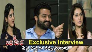 Jai Lava Kusa Team Hilarious Interview Jr. NTR Making Full Comedy With Niveda Thomas Rashi Khanna