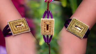 Make a Super easy RAKHI | best for kids | Raksha bandhan | paper rakhi | crafty butterfly 040