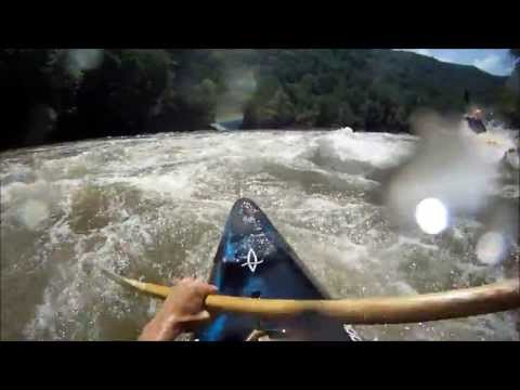 Kayaking the New River Gorge at 7.5 feet, 15,500 cfs