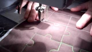 Free Motion Quilting Tutorial For Jigsaw Puzzle Style Quilting