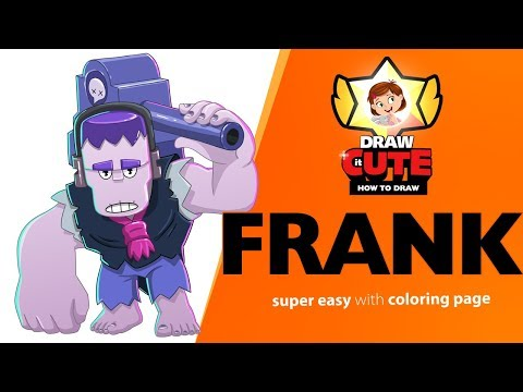 How to draw Frank   Brawl Stars super easy drawing tutorial with coloring page