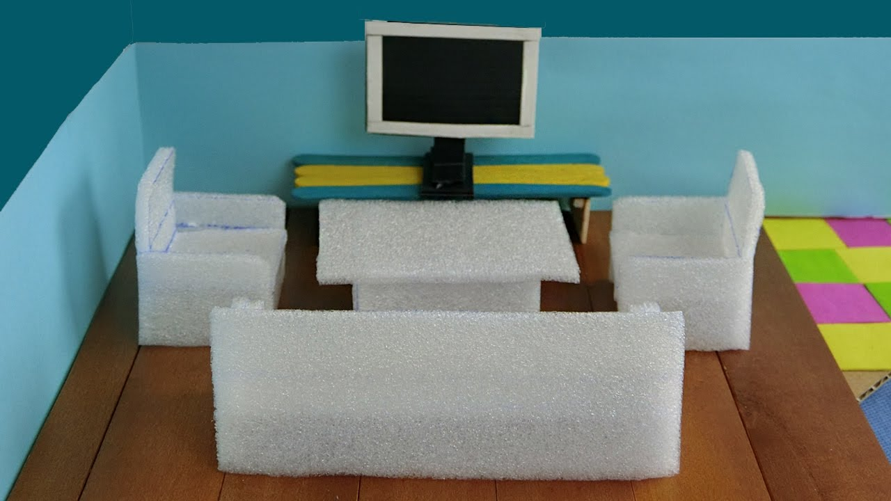 18 Doll Sofa Diy Papasan Dorm Pink Modern Home Interior Ideas Miniature Living Room Furniture Set For House American Girl