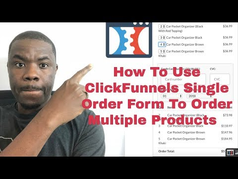 How To Add  Multiple Products On Clickfunnels Single Order Form