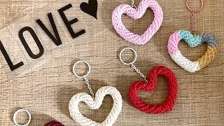 Chaveiro Coração de Crochê Dia dos Namorados