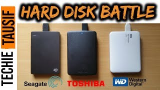 External Hard Disk Comparison | Seagate Vs Toshiba Vs WD | Speed Test | 2018