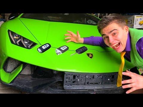Mr. Joe found Car Keys of Camaro VS Lamborghini VS Green Man on Opel Insignia OPC 13+